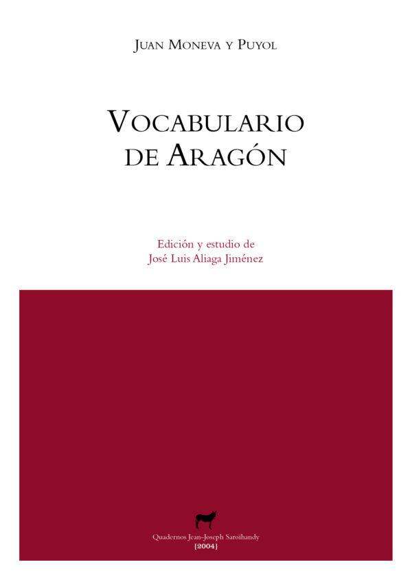 """Portada libro: """"Vocabulario de Aragón"""""""