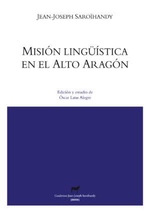 """Portada libro: """"Misión lingüística en el Alto Aragón"""""""