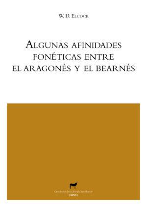 """Portada libro: """"Algunas afinidades fonéticas entre el aragonés y el bearnés"""""""