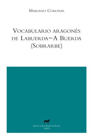 """Portada libro: """"Vocabulario aragones de Labuerda / A Buerda"""""""