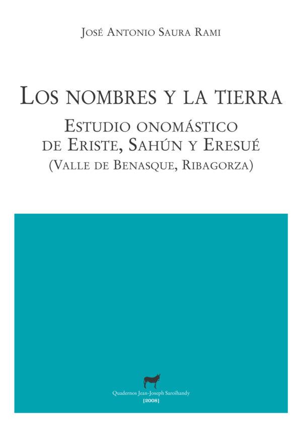 """Portada libro: """"Los nombres y la tierra"""""""