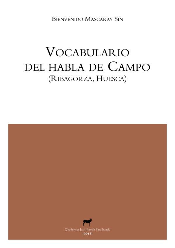 """Portada libro: """"Vocabulario del habla de Campo (RIbagorza, Huesca)"""""""