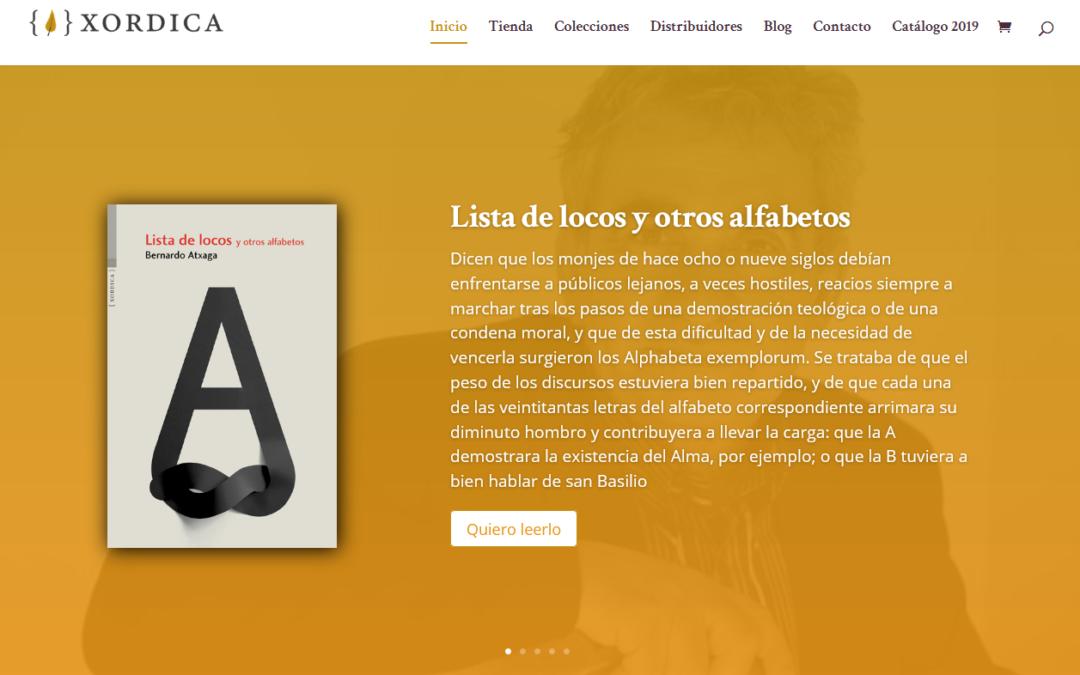 captura de pantalla de la web